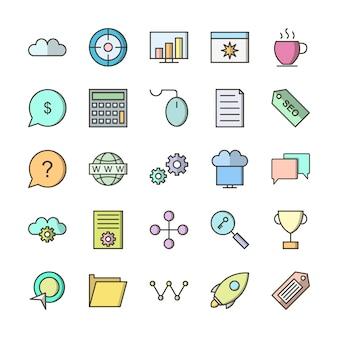 Set di icone dell'interfaccia utente di base