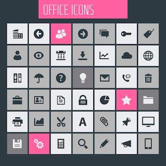 Set di icone dell'interfaccia utente, ux e office