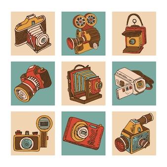 Set di icone della fotocamera