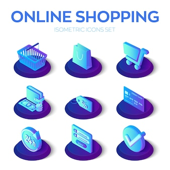 Set di icone dello shopping online