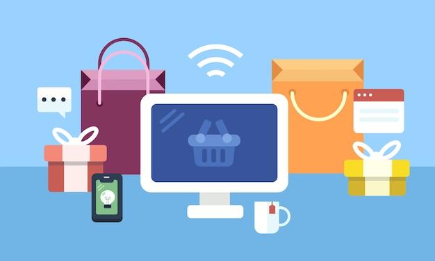 Set di icone dello shopping online