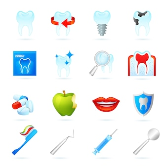 Set di icone dentali