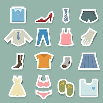 Set di icone di abbigliamento