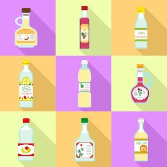 Set di icone di aceto