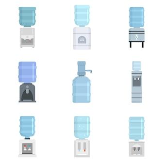 Set di icone di acqua di raffreddamento