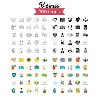 Set di icone di affari.