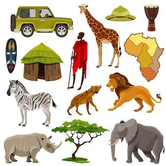 Set di icone di africa