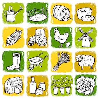Set di icone di agricoltura