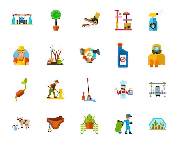 Set di icone di allevamento