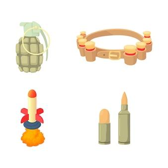 Set di icone di armatura