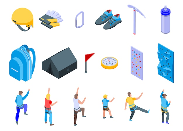 Set di icone di arrampicata sportiva