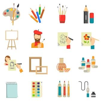 Set di icone di arte