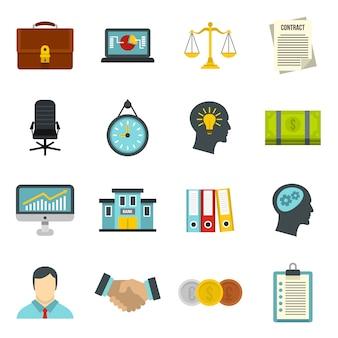 Set di icone di attività bancarie