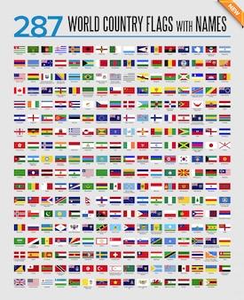 Set di icone di bandiere del mondo