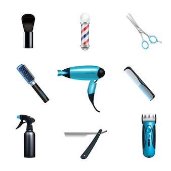 Set di icone di barbershop