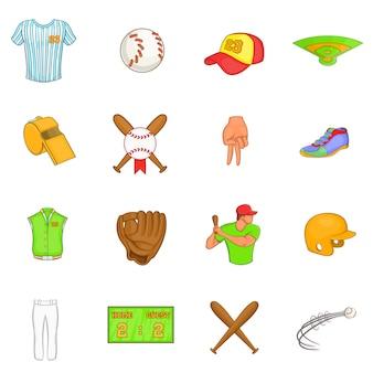 Set di icone di baseball