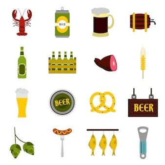Set di icone di birra