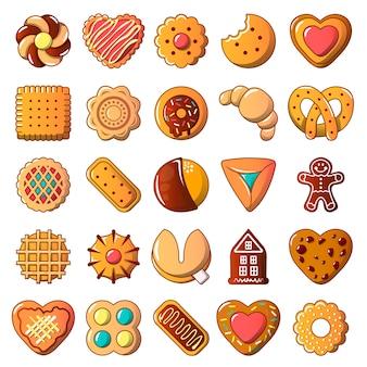 Set di icone di biscotti biscotto