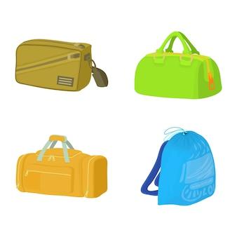Set di icone di borsa sportiva