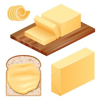 Set di icone di burro