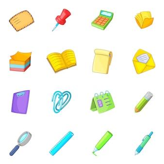 Set di icone di cancelleria