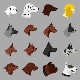 Set di icone di cane