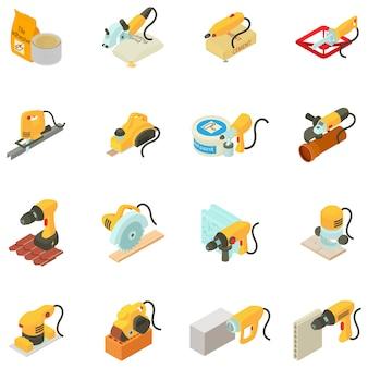 Set di icone di casa di riparazione