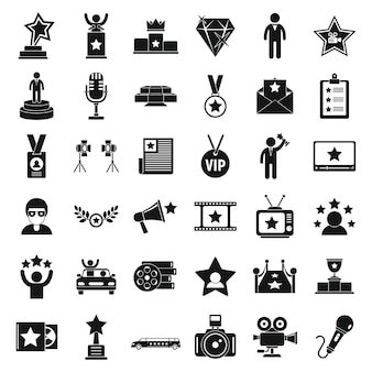 Set di icone di celebrità