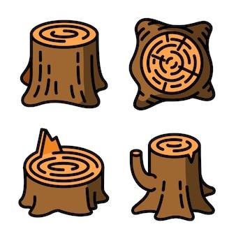 Set di icone di ceppi