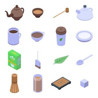 Set di icone di cerimonia del tè