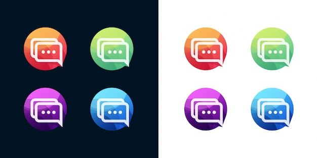 Set di icone di chat