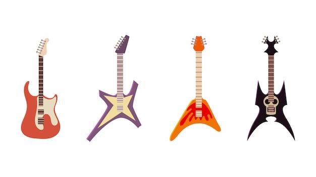 Set di icone di chitarra elettrica