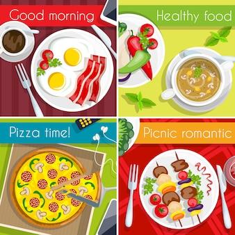 Set di icone di cibo