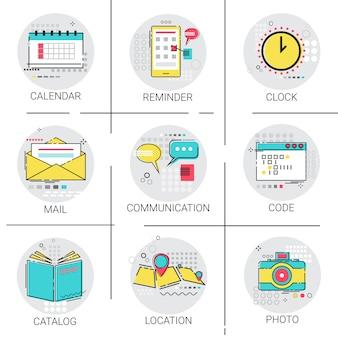 Set di icone di codifica dell'applicazione