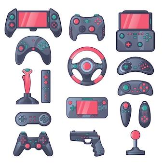 Set di icone di colore del gioco gadget