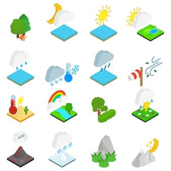 Set di icone di condizioni meteorologiche