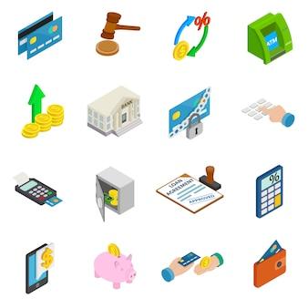 Set di icone di credito