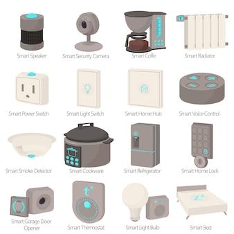 Set di icone di dispositivi casa intelligente