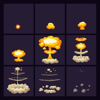 Set di icone di effetti di esplosione