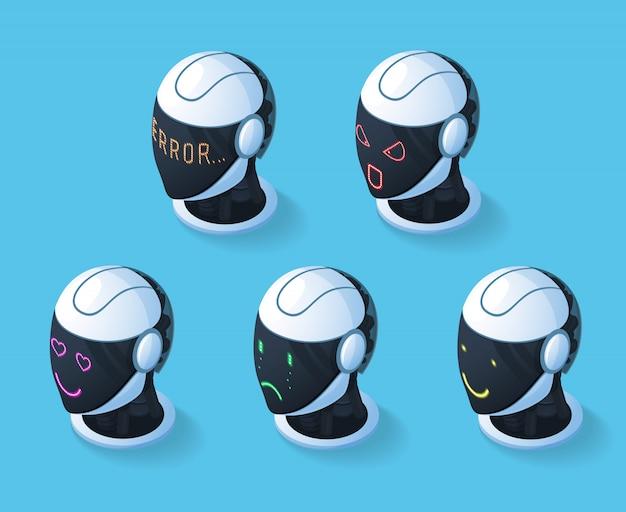 Set di icone di emozioni di droide