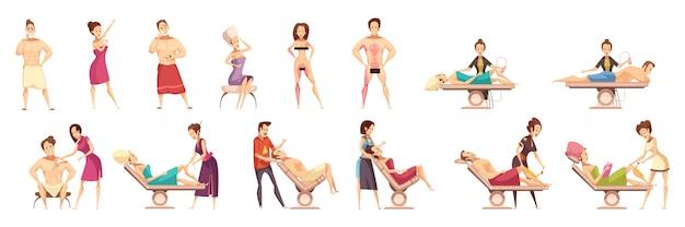 Set di icone di epilazione depilazione depilazione