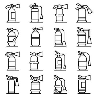 Set di icone di estintore