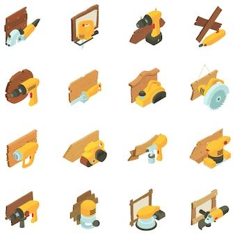 Set di icone di falegnameria