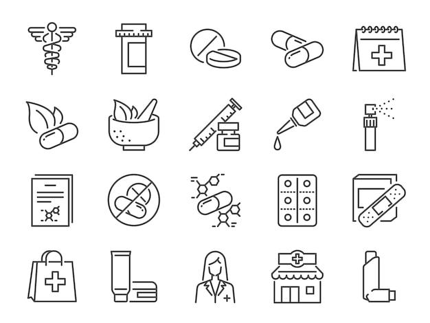 Set di icone di farmacia