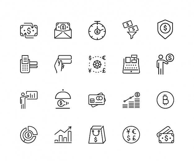 Set di icone di finanze
