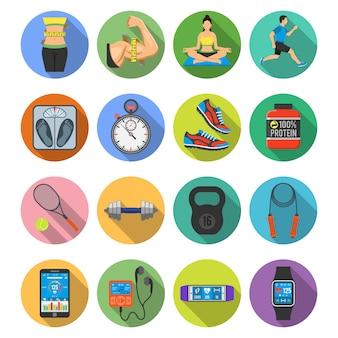 Set di icone di fitness
