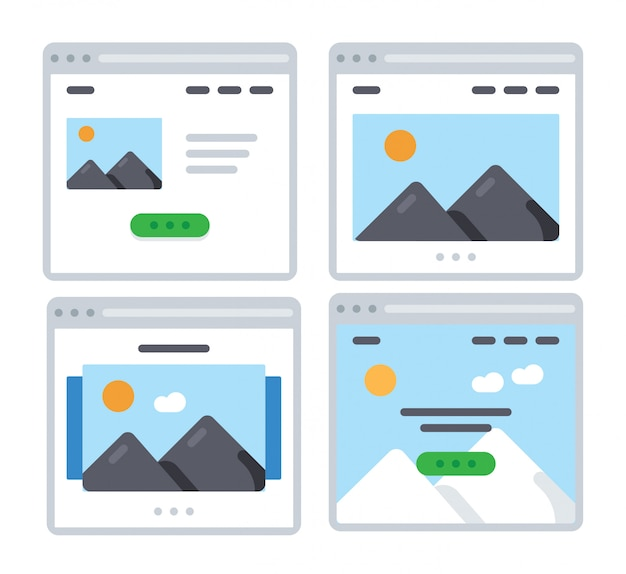 Set di icone di foto
