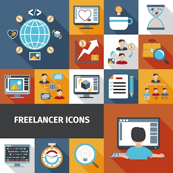 Set di icone di freelance