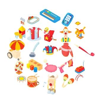 Set di icone di giocattoli