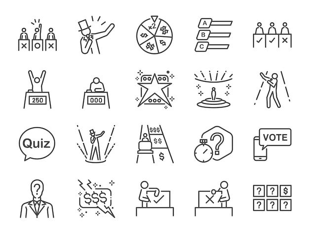 Set di icone di gioco spettacolo.